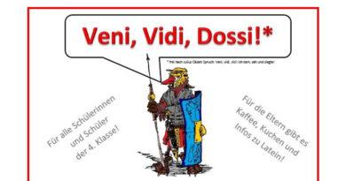 Veni,vidi, Dossi! – Der 3. Dossenberger Römertag