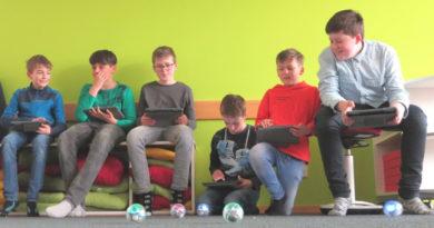 Drohnen-AG in der Lernlandschaft