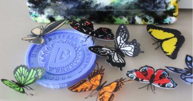 Schmetterlinge auf dem Marktplatz